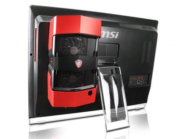 К моноблоку MSI Gaming 27XT пристегивается модуль с внешней видеокартой