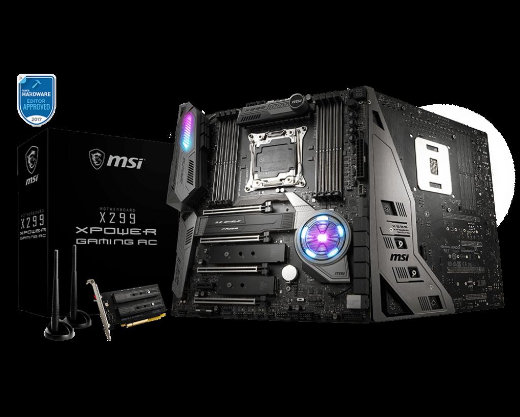 MSI выпустит новый BIOS для материнских плат X299