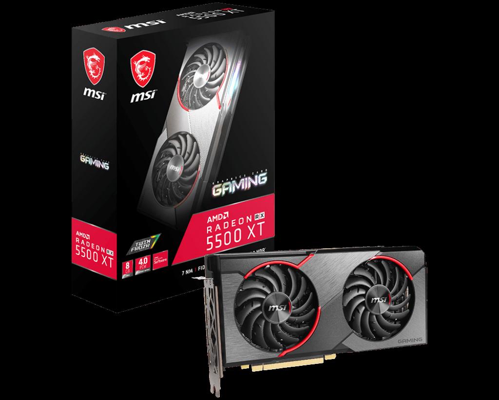 Новые видеокарты MSI Radeon RX 5500 XT GAMING / MECH