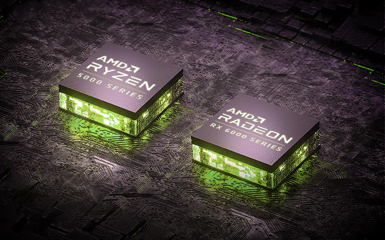 Новейшая графика серии AMD Radeon RX6000M.