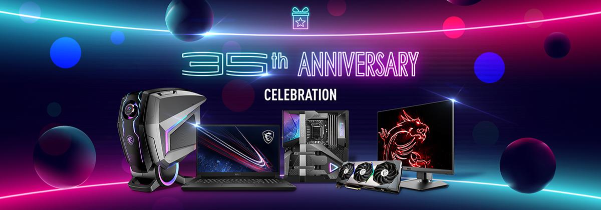 Присоединяйтесь к празднованию 35-летия MSI и выиграйте главный приз