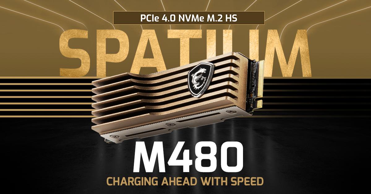 Флагманский твердотельный накопитель - MSI Spatium M480 с радиатором