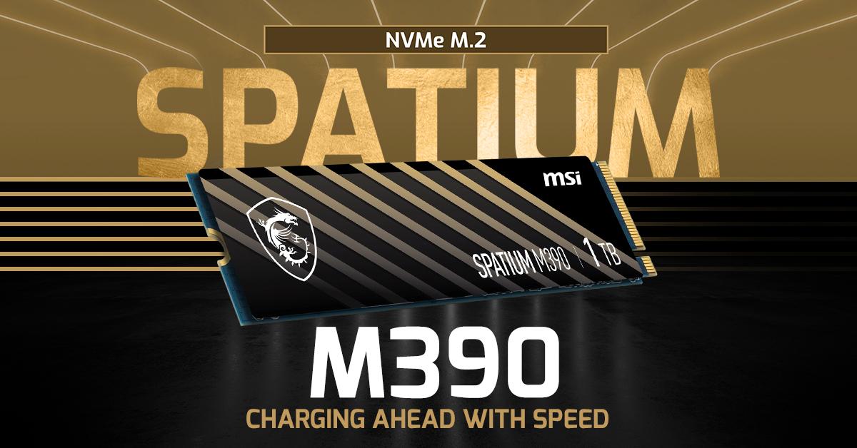 MSI Spatium M390 – самый быстрый SSD Gen3 PCIe NVMe